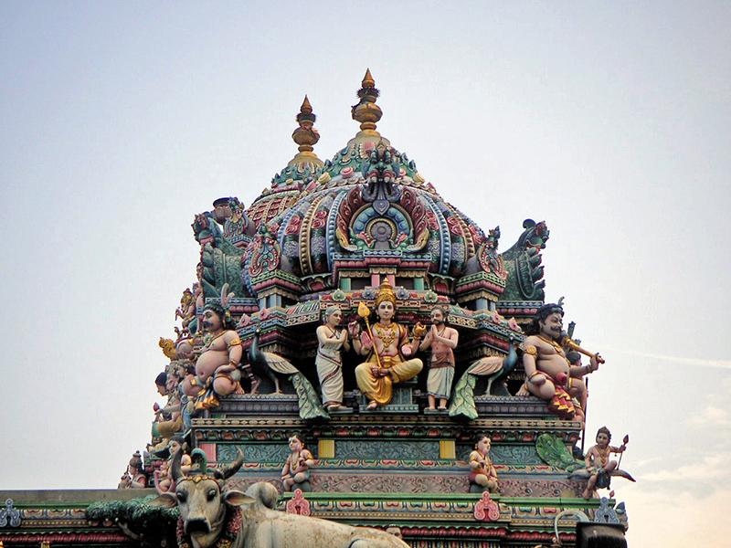Một mái đền thờ Hồi giáo trong khu Little India