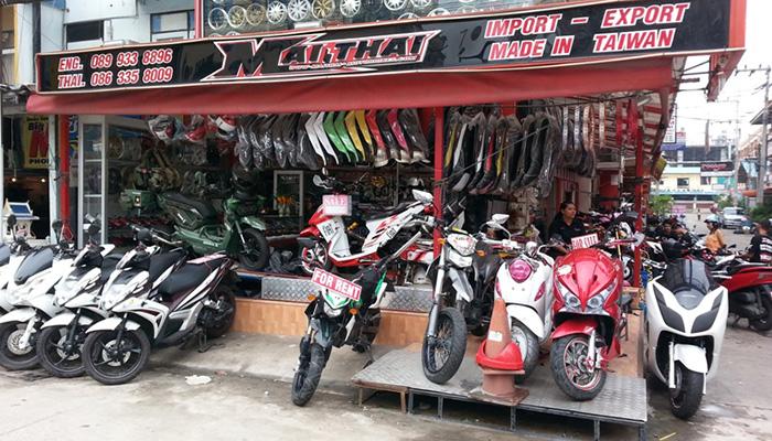 thuê xe máy ở Pattaya