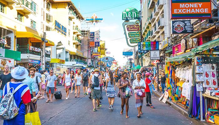 Du lịch Bangkok nên ở khu nào? đường khao san bangkok