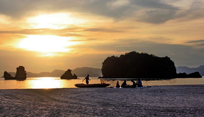 ngắm mặt trời lặn ở Langkawi