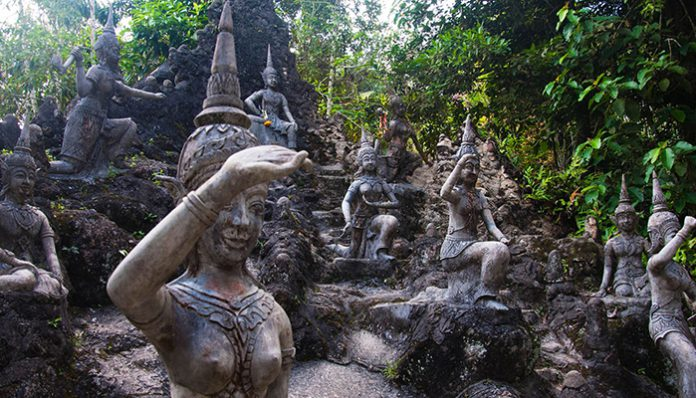vườn tượng secret buddha garden
