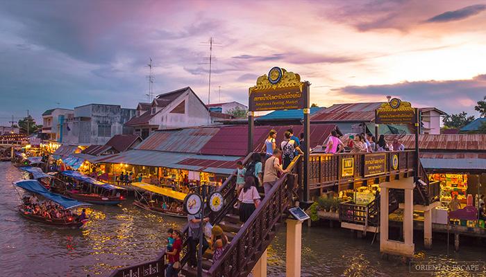 kinh nghiêm mua sắm ở bangkok - chợ nổi amphawa