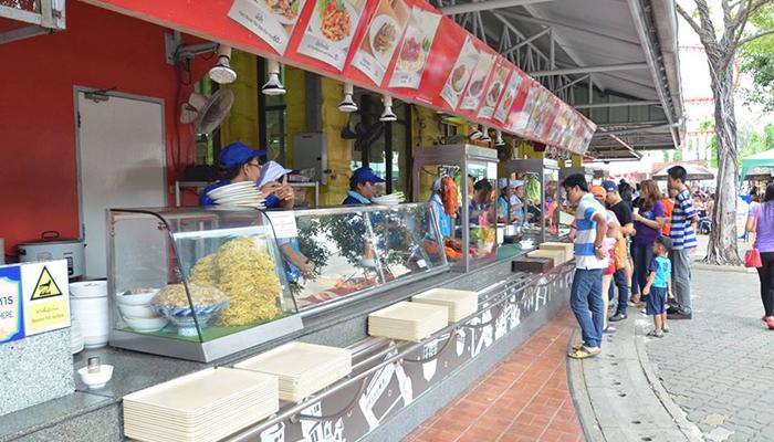 Một khu ăn uống ở Dream World Bangkok