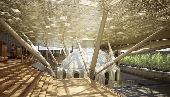 Một góc không gian bên trong bảo tàng