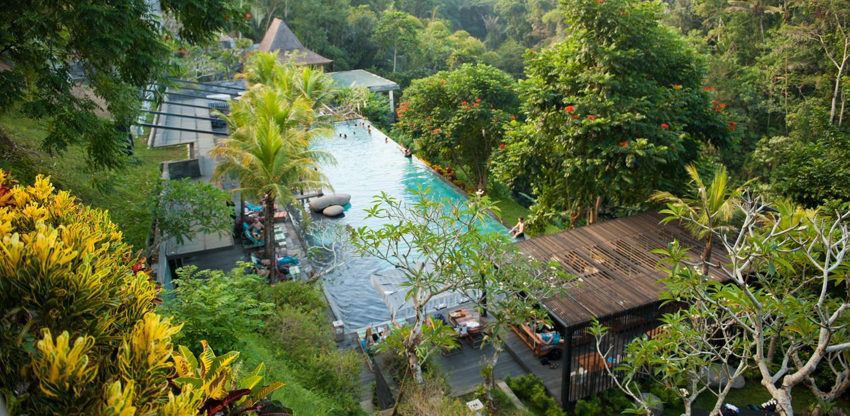 Một khách sạn độc đáo ẩn mình giữa lòng Ubud