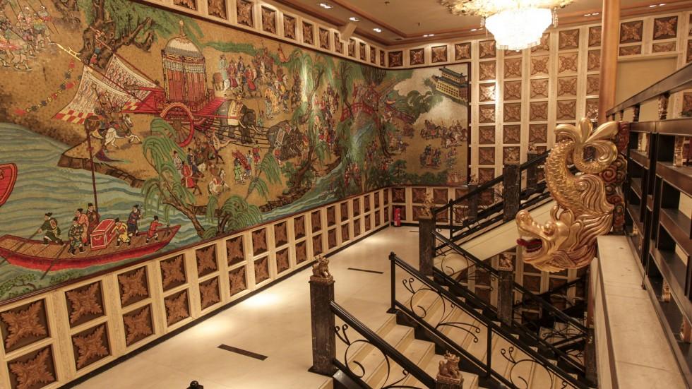 Kiến trúc độc đáo bên trong du thuyền Jumbo Kingdom Floating Restaurant