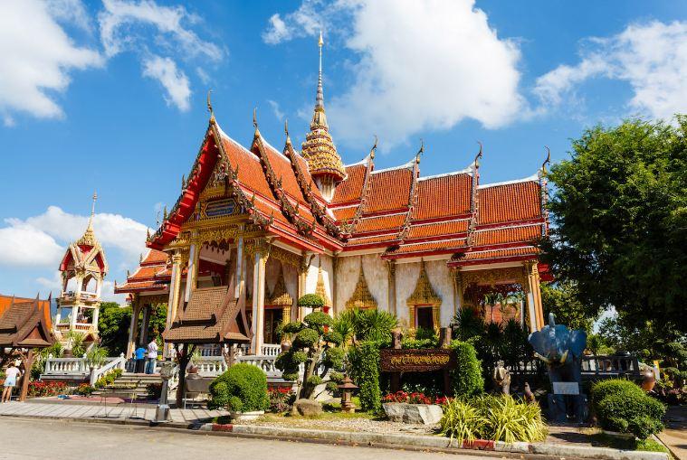 Nét kiến trúc độc đáo của ngôi chùa linh thiêng Wat Chalong