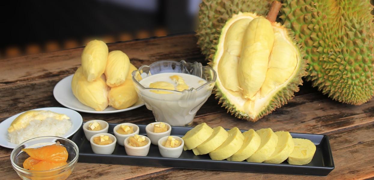 Bạn có thể tìm thấy tất cả các món ăn chế biến từ sầu riêng tại buffet Trái cây ở tầng 18