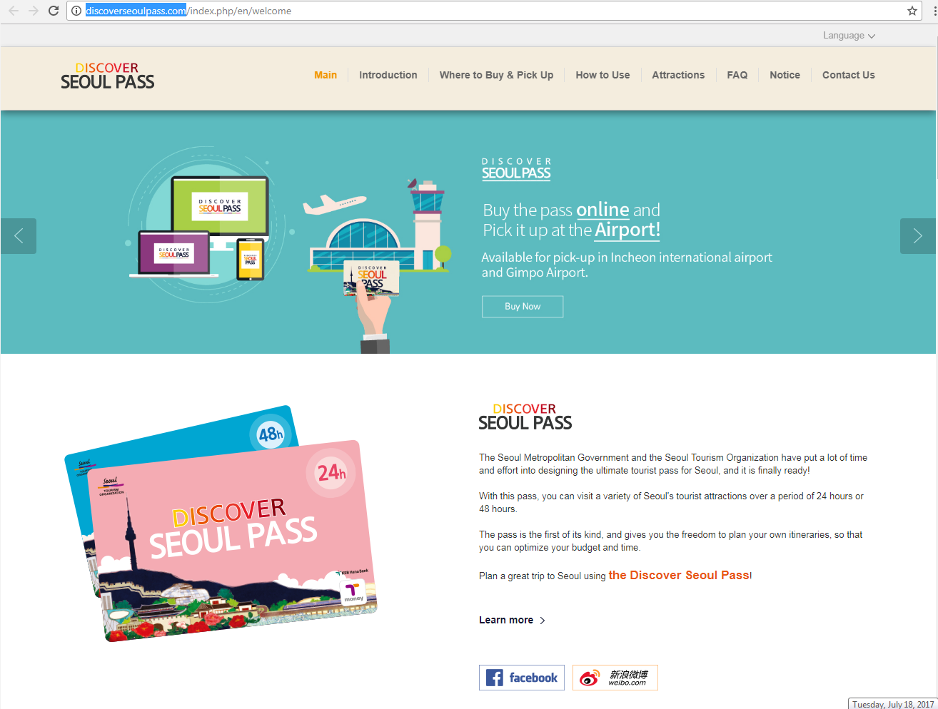 Website mua thẻ chính thức của Discovery Seoul Pass