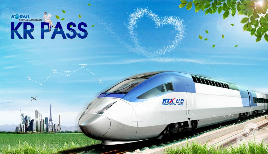 KR Pass được sử dụng để di chuyển trên hệ thống đường sắt của Hàn Quốc