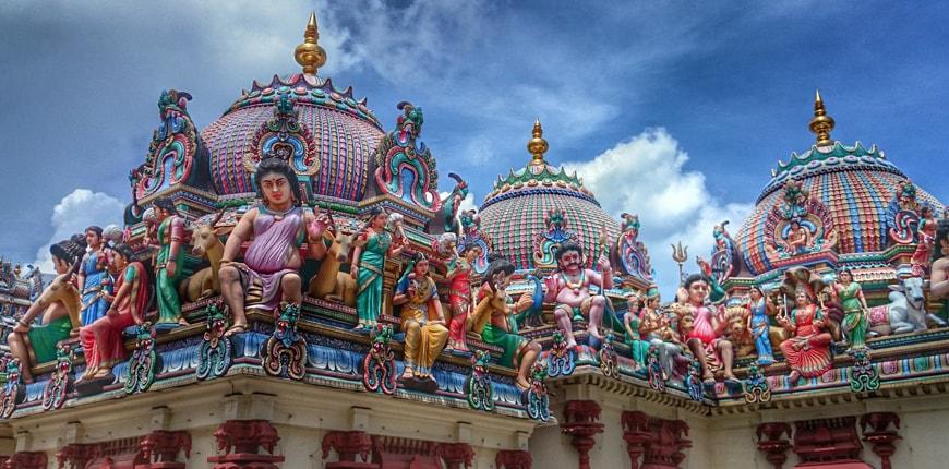 Kiến trúc độc đáo một ngôi đền tại Little India