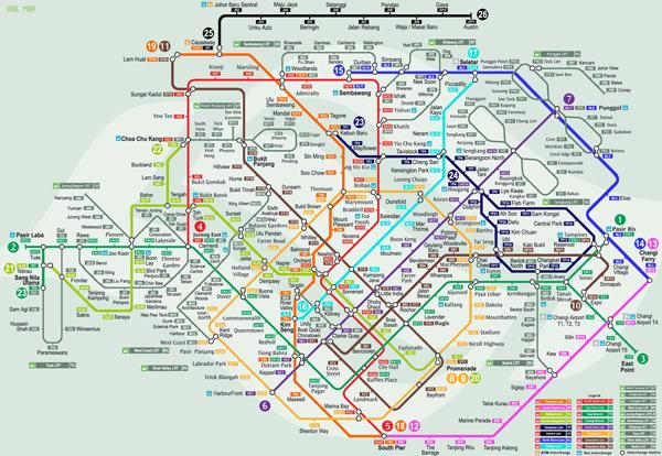 Tàu điện MRT là phương tiện phổ biến tại Singapore