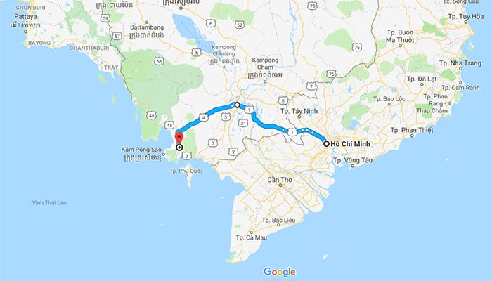 Tuyến đường này dành cho những ai muốn đến thăm quan Pnong Penh.
