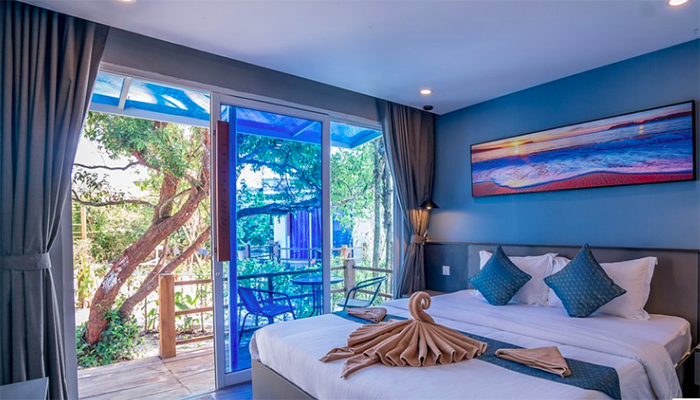 Bên trong phòng của Sara Resort - một trong những resort mới ở Koh Rong Samloem.