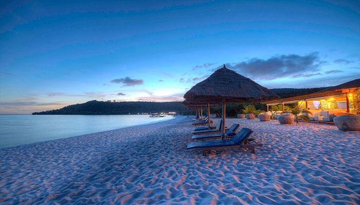 Sok San Resort nằm tại một bãi biển thanh bình.