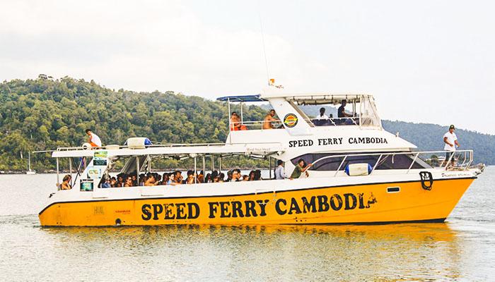 Tàu nhanh Speed Ferry đưa bạn đến Koh Rong chỉ trong vòng 40 phút.