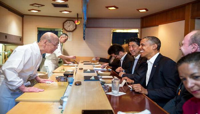 Nhà hàng ... còn là nơi trân trọng tiếp đón và chiêu đãi vị Cựu Tổng Thống Mỹ Barack Obama. Nguồn: images.com
