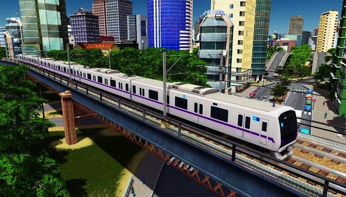 Tàu điện thuộc hệ thống Tokyo Metro đi từ lòng đất đến giao thông trên không. (Nguồn: citiesmod.com)