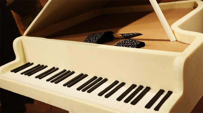Độ chi tiết đến kinh ngạc của mô hình piano tại bảo tàng. (Nguồn: divui)