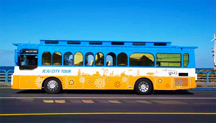 Jeju city bus là sự lựa chọn kết hợp tuyệt vời cho việc di chuyển từ sân bay về khách sạn và khám phá Jeju.