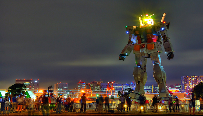Tham quan vịnh nhân tạo độc đáo của Nhật Bản và chiêm ngưỡng chú robot Gundam khổng lồ tại đây. Nguồn: nuocnhatplus.com