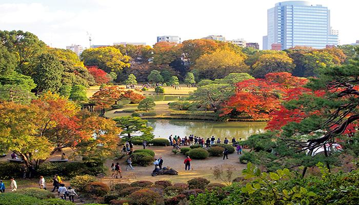 Khu vườn phía đông Hoàng cung Tokyo cũng là một địa điểm dã ngoại lý tưởng với khuôn viên xanh mát. Nguồn: www.at-roadside.com