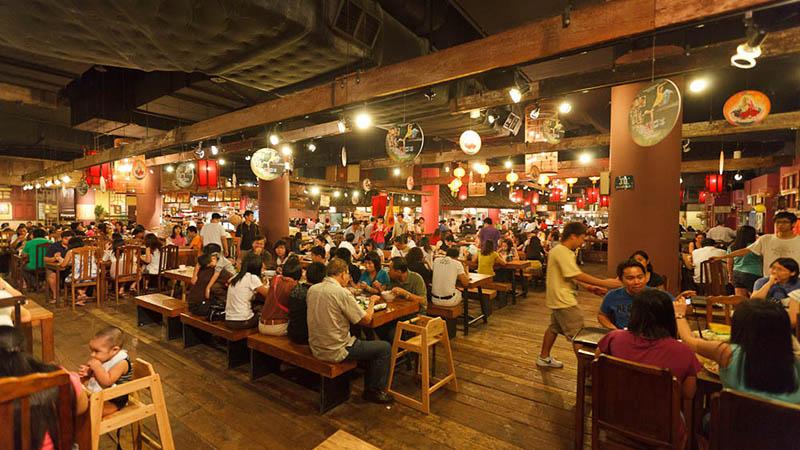 Kinh nghiệm du lịch Singapore - Food Court trong Trung tâm thương mại