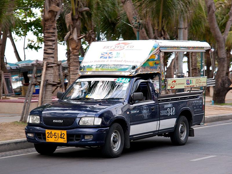 Cam nang du lich Pattaya - Xe Songthaew tại Pattaya