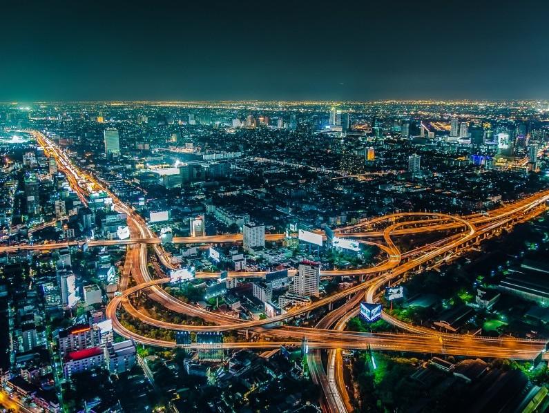 Toàn cảnh Thủ đô Bangkok nhìn từ Đài Quan sát Baiyoke Tower