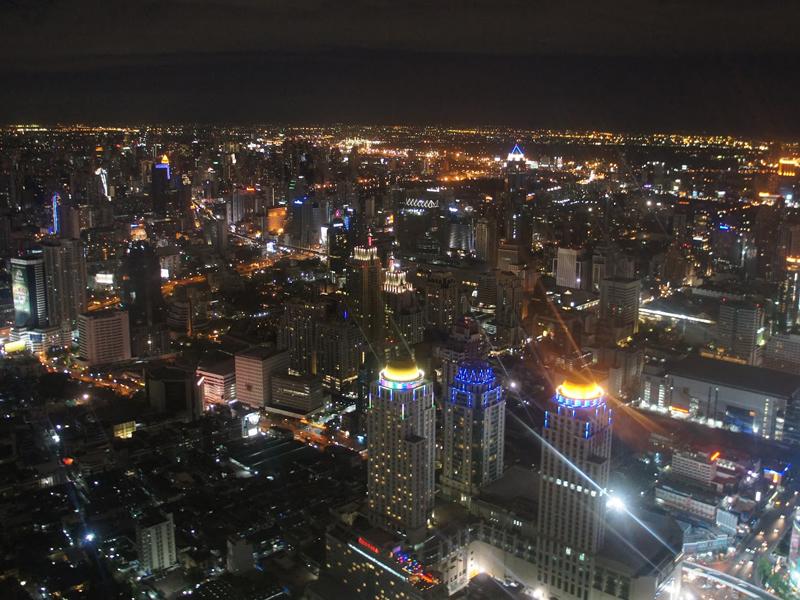 toàn cảnh bangkok nhìn từ baiyoke tower