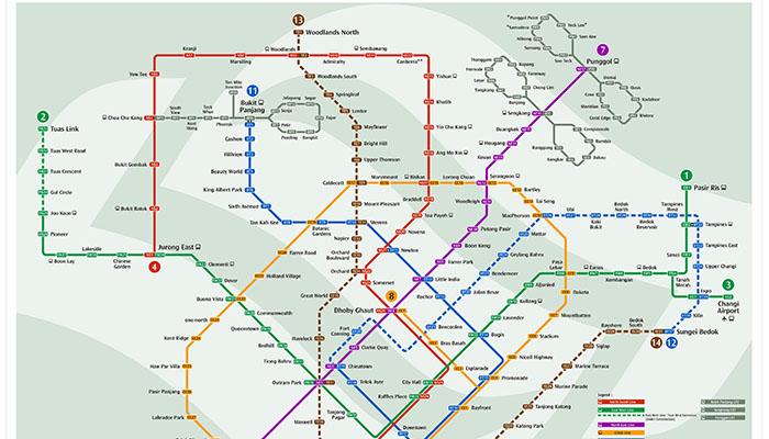 bản đồ mrt singapore