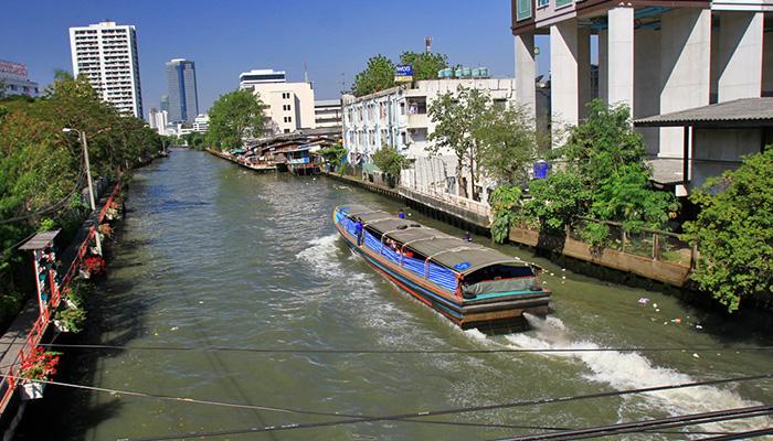 Thuyền kênh đào bangkok