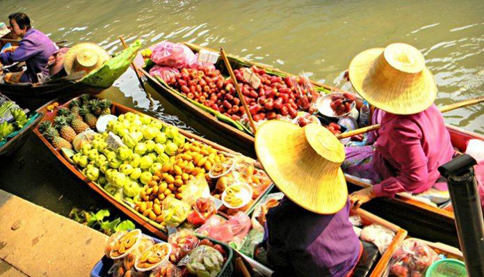 chợ nổi Damnoen saduak