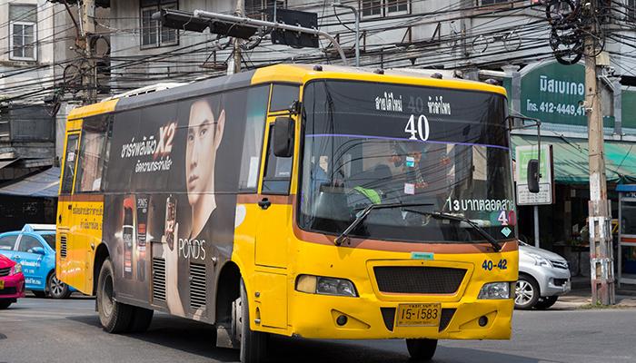 Kết quả hình ảnh cho xe bus thái lan