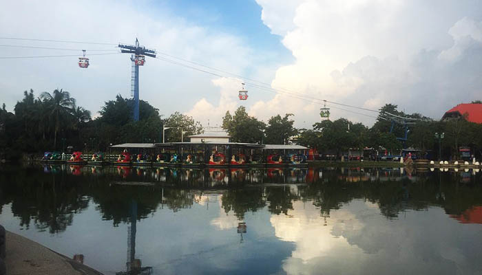Kinh nghiệm đi Dream World Bangkok - cáp treo
