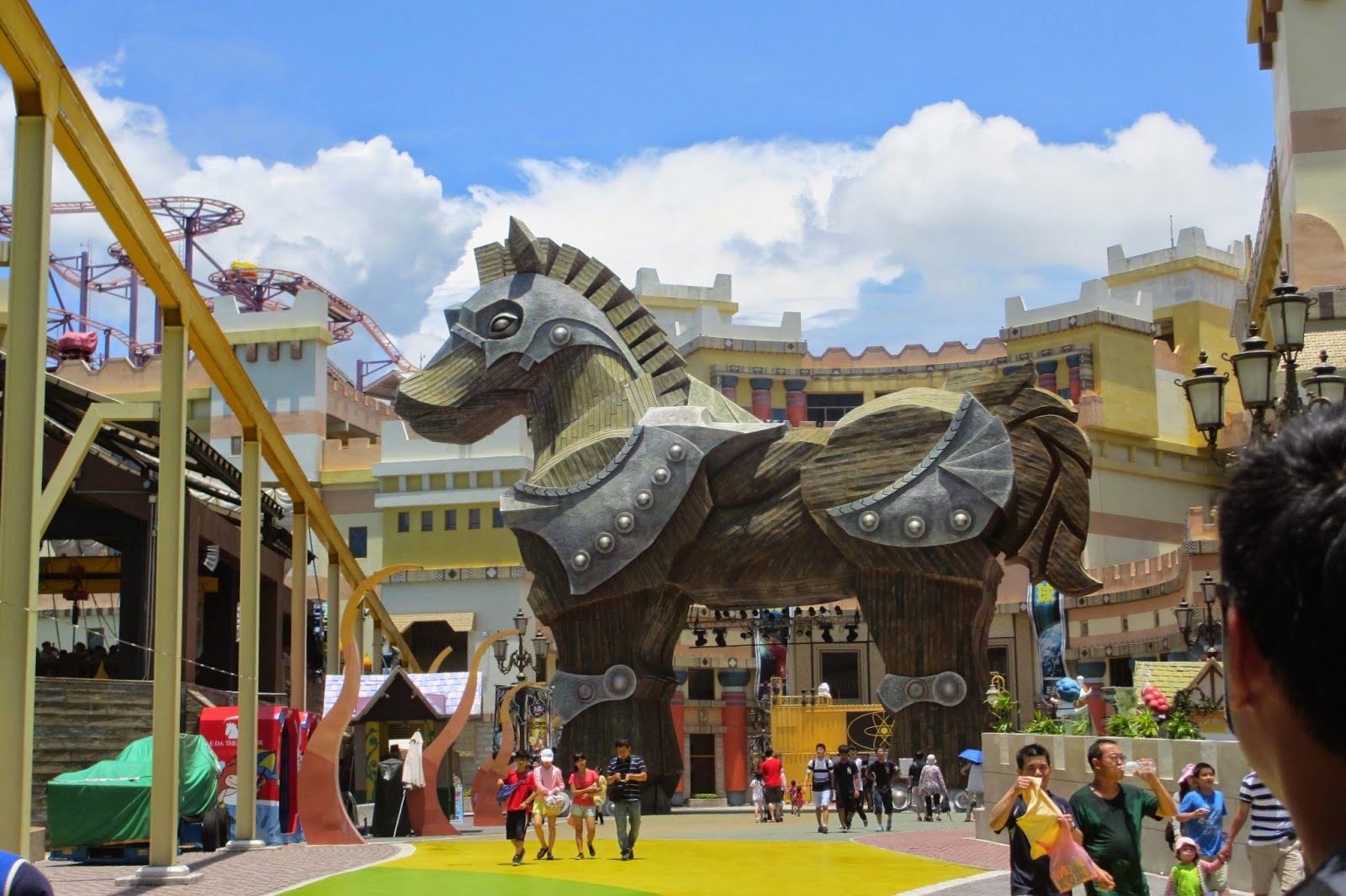 """""""Con ngựa thành Troy"""" cũng được trưng bày tại khu vực Thành Troy của công viên E-DA"""