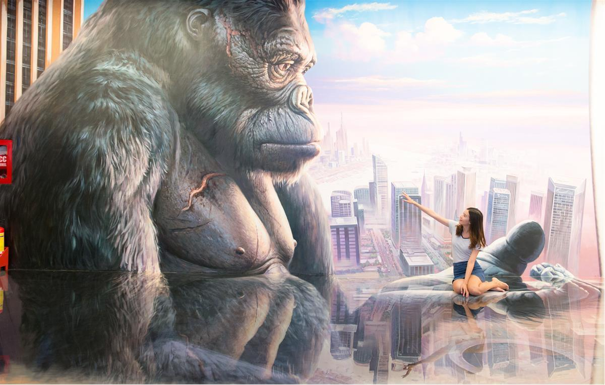 Ngồi trong bàn tay King Kong là điều không tưởng