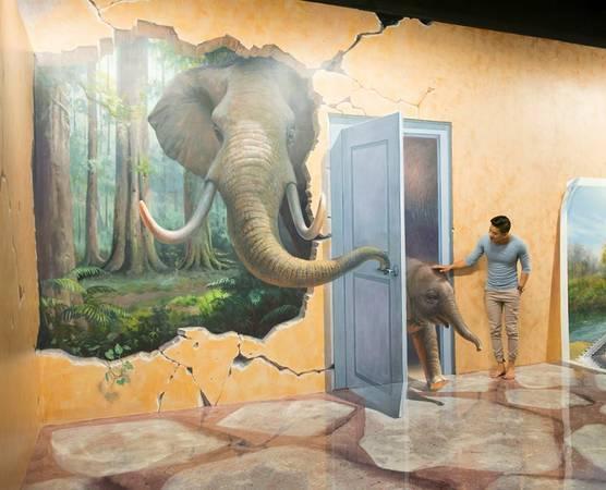 Vui chơi với voi con là điều không tưởng