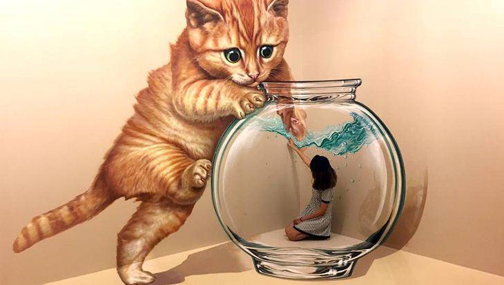 Một bé mèo đáng yêu nhưng to gấp 3 lần bạn