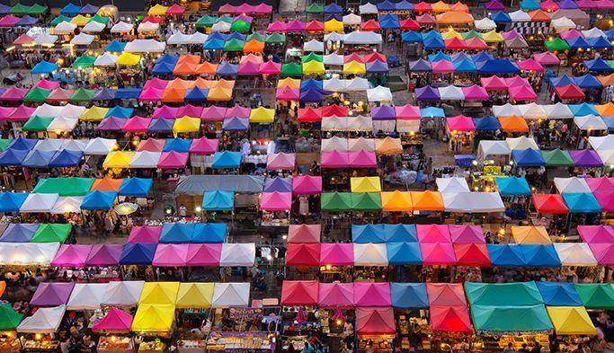 Toàn cảnh chợ cuối tuần Chatukchak từ trên cao