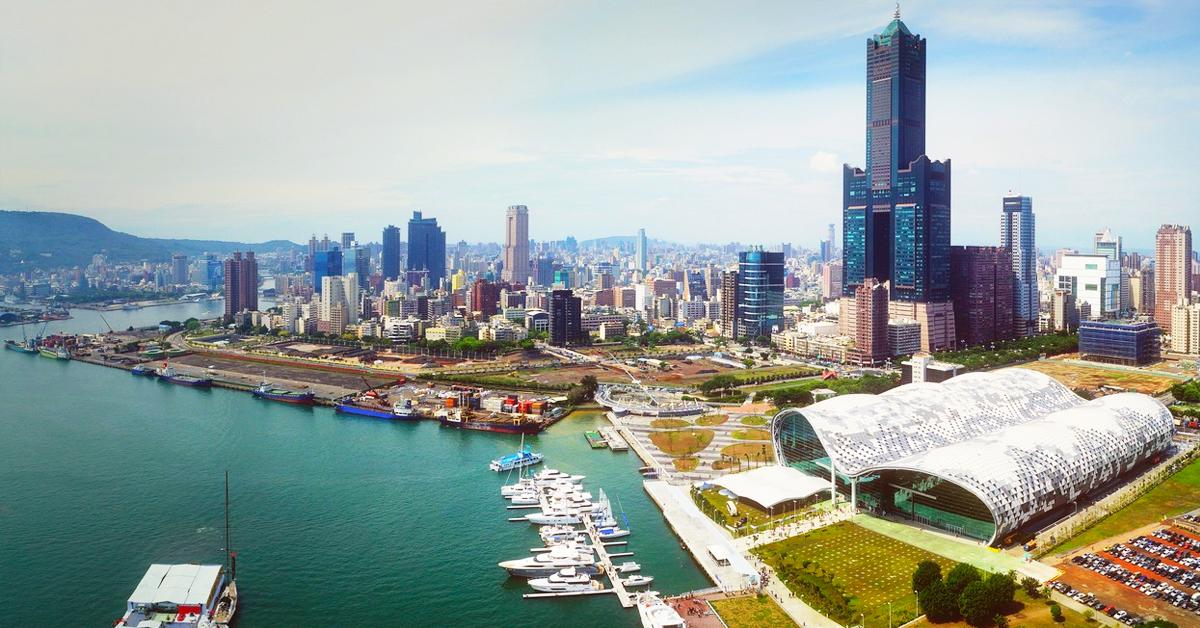 Phố cảng Cao Hùng hiện đại và giàu có