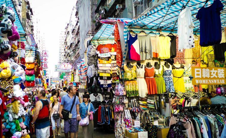 Những khu chợ trời ở Hong Kong rất đa dạng và phong phú chủng loại hàng hóa