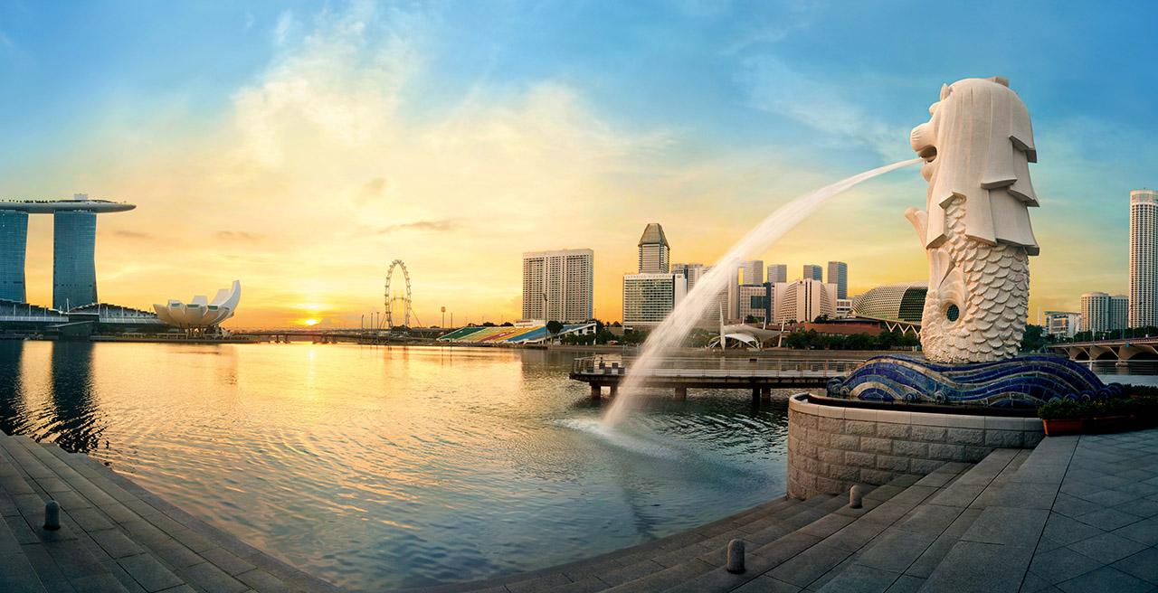 Một góc Singapore lãng mạn trong ánh hoàng hôn