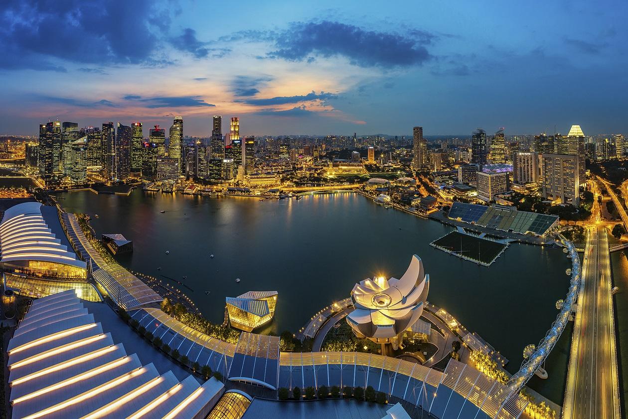 Một góc Singapore nhìn từ đài quan sát Skypark