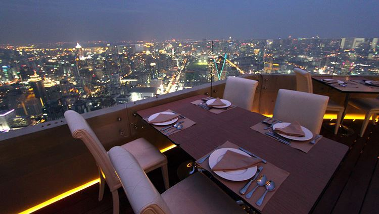 Buffet Indoor tại Baiyoke Bangkok tầng 81