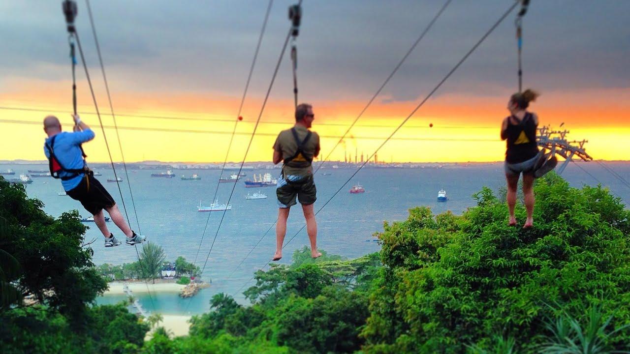 Tốc độ đu dây có thể đạt tới 50km/h cho du khách trải nghiệm Tarzan khó quên