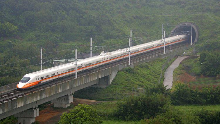 Hình ảnh chiếc tàu lửa siêu tốc THSR ở Đài Loan