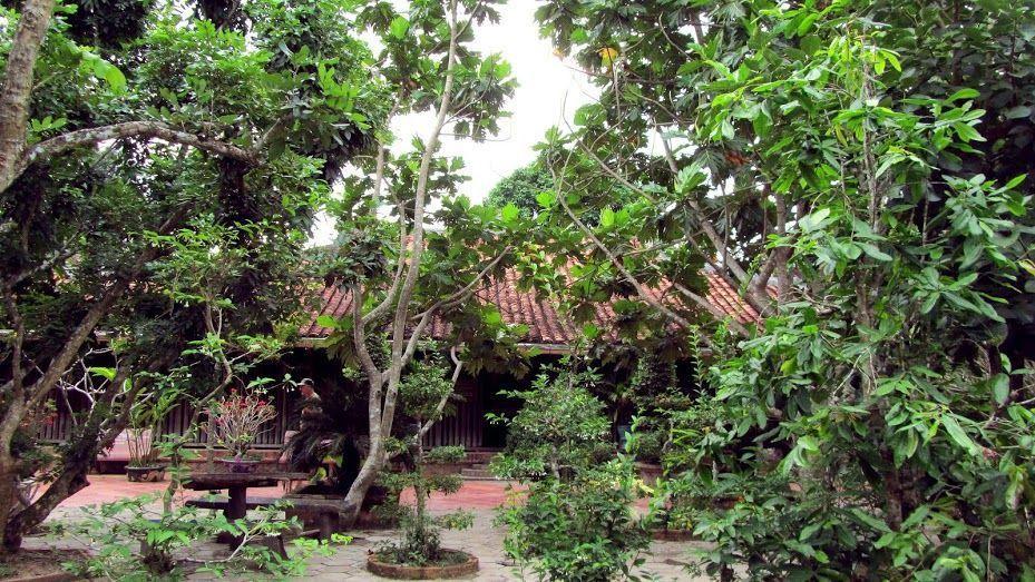 Ngôi nhà cổ ẩn hiện dưới những tán cây xanh đem lại cảm giác vô cùng trong lành