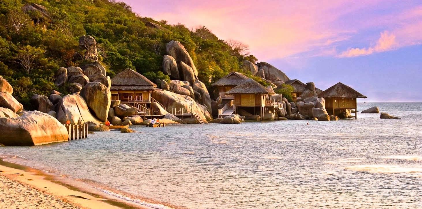 Vịnh Vân Phong lãng mạn, yên bình trong ánh hoàng hôn