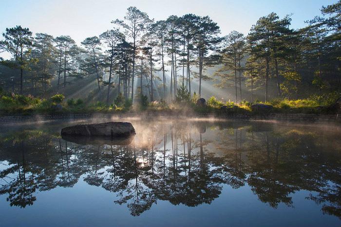 Công viên quốc gia núi Bidoup đẹp long lanh trong buổi sớm mai
